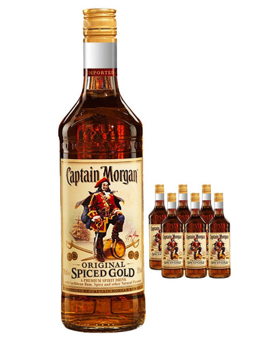 Image: Captain Morgan Spiced Gold (Case of 6 x 70 cl Bottles)