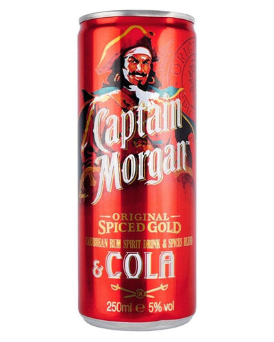 Image: Captain Morgan Spiced Rum & Cola Premixed Can, 1 x 250 ml