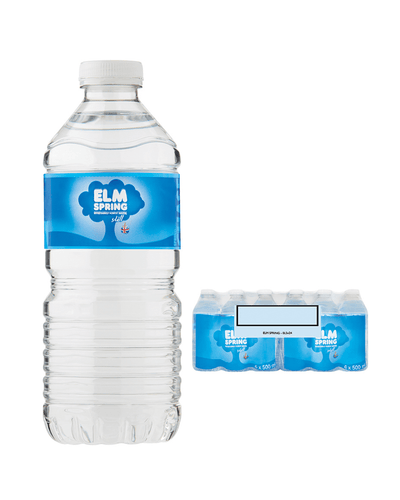 Image: Elm Natural Spring Still Mineral Water Multipack, 24 x 500 ml