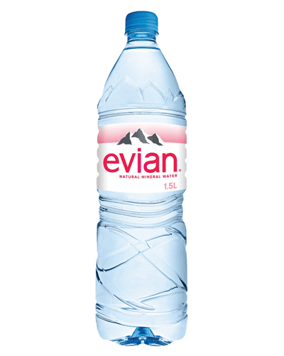 Image: Evian Natural Spring Water Plastic Bottle Multipack, 8 x 1.5 L