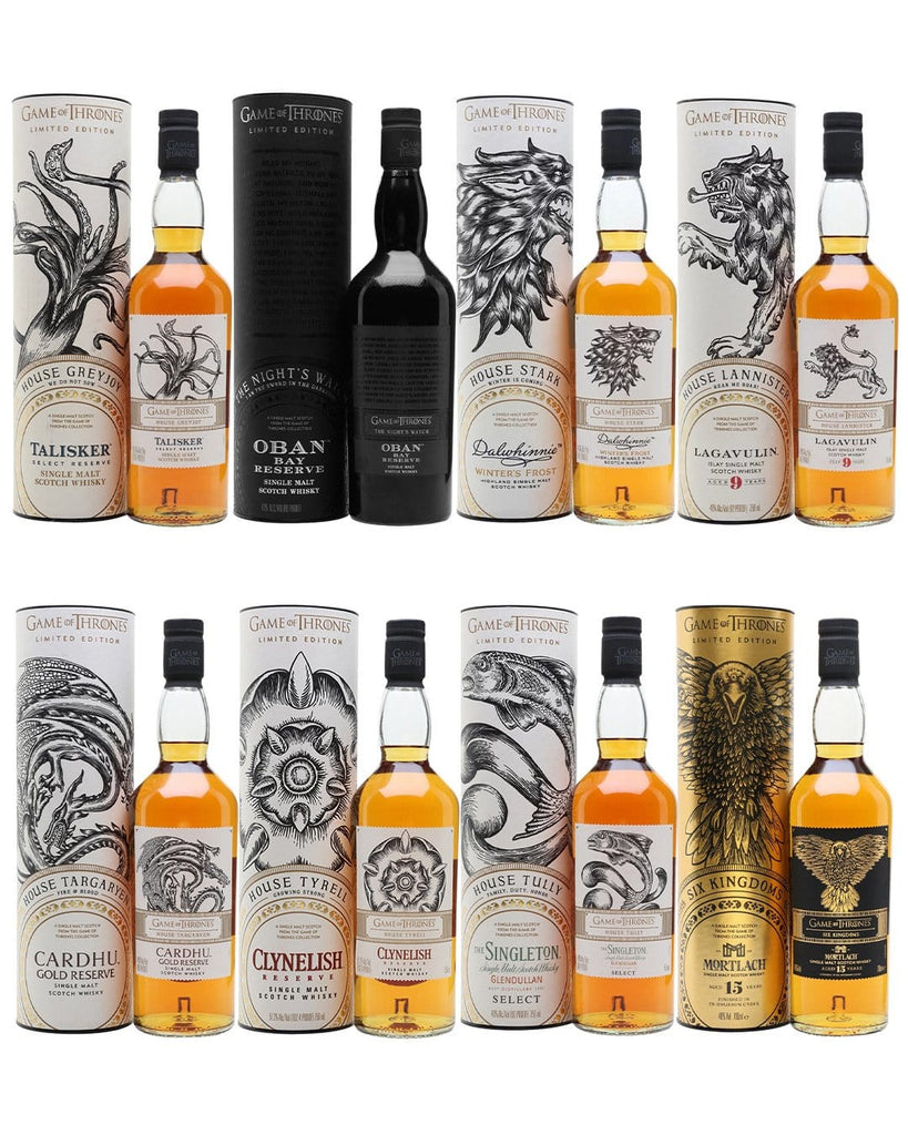 Game of Thrones The Noble Families Set - Single Malt Whiskies, 8 x 70 cl