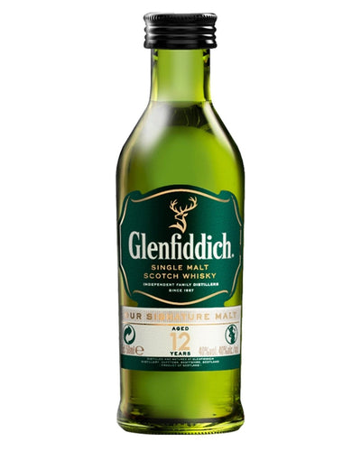 Image: Glenfiddich 12 Year Old Malt Whisky Miniature, 5 cl