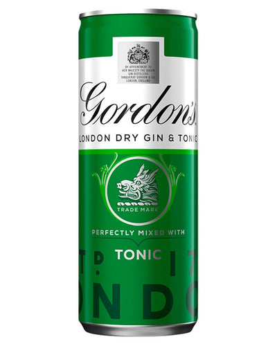 Image: Gordon's London Dry Gin & Schweppes Tonic Premixed Can, 1 x 250 ml