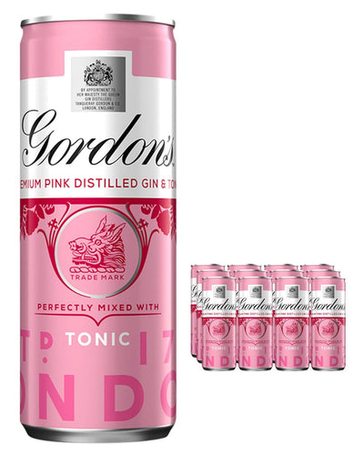 Image: Gordon's Pink Gin & Schweppes Tonic Premixed Can, 12 x 250 ml Multipack