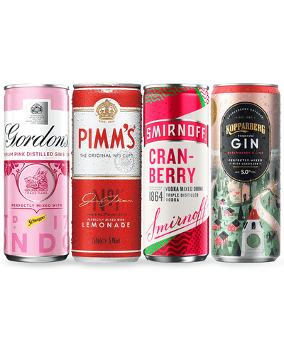 Image: Pink Premixed Cocktails Singles Pack, 4 x 250 ml