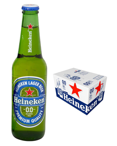 Image: Heineken 0.0% Alcohol Free Beer Bottle Multipack, 24 x 330 ml