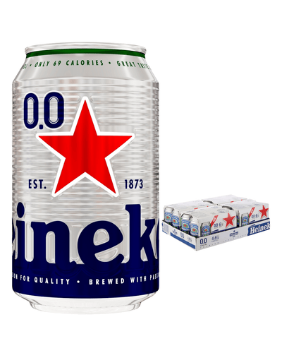 Image: Heineken 0.0% Alcohol Free Beer Can Multipack, 24 x 330 ml