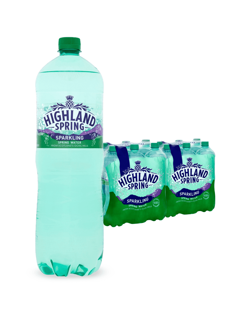 Highland Spring Sparkling Mineral Water Multipack, 12 x 1.5 L