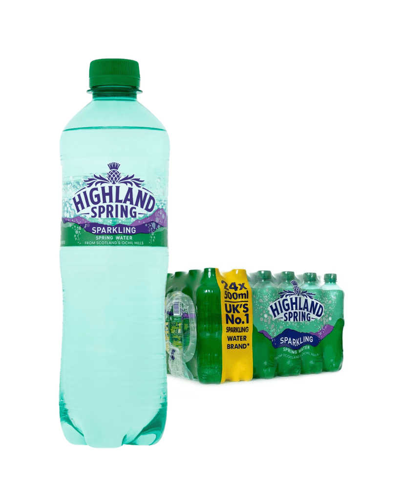 Highland Spring Sparkling Mineral Water Multipack, 24 x 500 ml