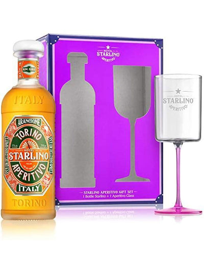 Image: Hotel Starlino Arancione Aperitivo Spritz Gift Set with Aperitivo Glass, 75 cl