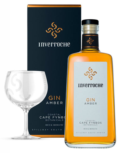 Image: Inverroche Amber Gin, 70 cl NOW SHIPPING WITH FREE GLASSWARE