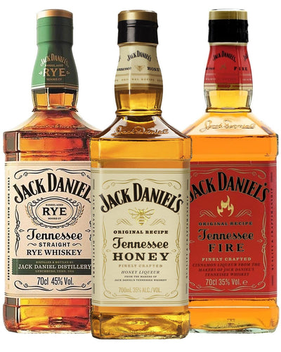 Image: Jack Daniel's Flavoured Whiskey Trio, 3 x 70 cl
