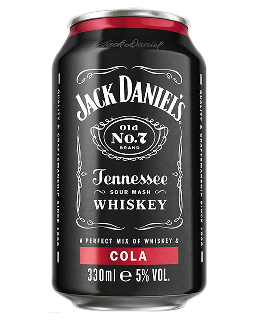 Jack Daniel's Old No. 7 Tennessee Whiskey & Cola Premixed Can, 1 x 330 ml