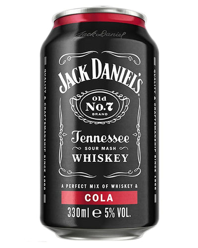 Image: Jack Daniel's Old No. 7 Tennessee Whiskey & Cola Premixed Can, 1 x 330 ml
