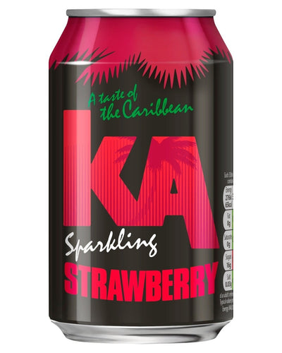 Image: KA Sparkling Strawberry Fizzy Drink Multipack, 24 x 330 ml