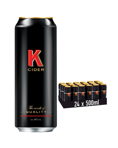Image: K Cider Cans Multipack, 24 x 500 ml