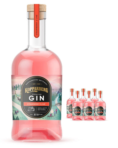 Image: Kopparberg Strawberry & Lime Premium Gin (Case of 6 x 70 cl Bottles)