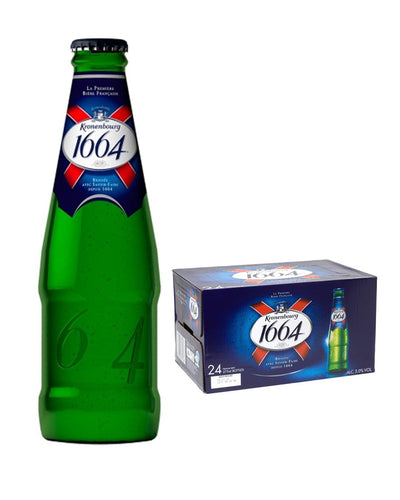 Image: Kronenbourg 1664 Lager Beer Bottle Multipack, 24 x 275 ml