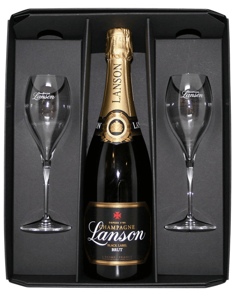 Lanson Black Label Flute Pack Champagne, 75 cl