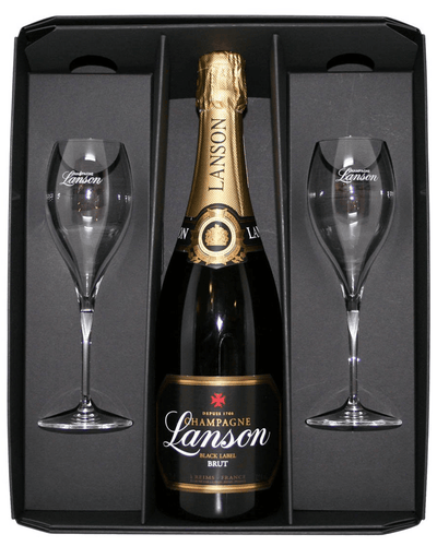 Image: Lanson Black Label Flute Pack Champagne, 75 cl