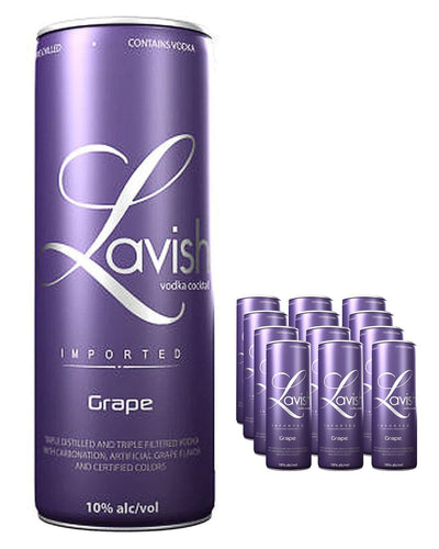 Image: Lavish Grape Vodka Cocktail Can Multipack, 12 x 330 ml