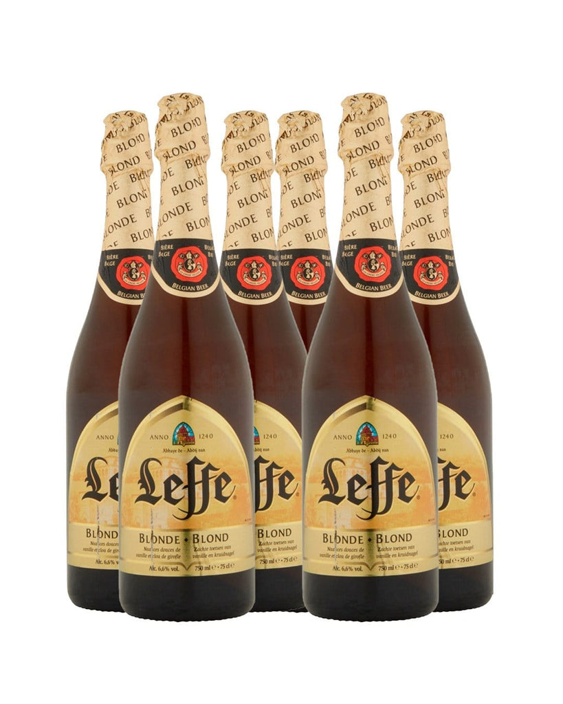 Leffe Blonde Belgian Ale Bottle Multipack, 6 x 750 ml