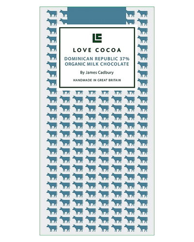 Image: Love Cocoa Dominican Republique 37% Organic Milk Chocolate Bar, 80 g