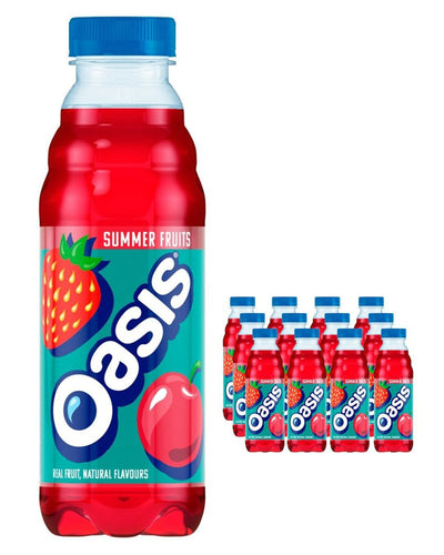 Image: Oasis Summer Fruits Plastic Bottle Multipack, 12 x 500 ml