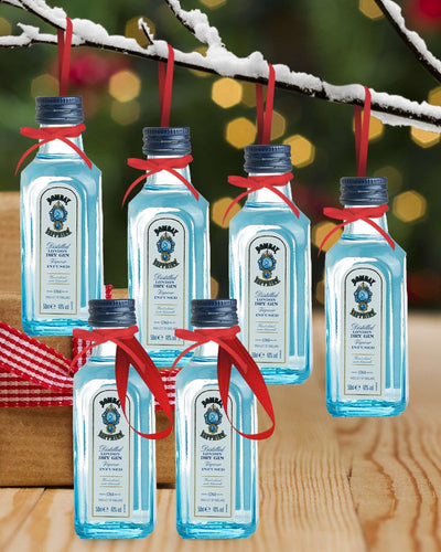Image: PRE-ORDER Merry Baubles - Bombay Sapphire Gin Miniature Set