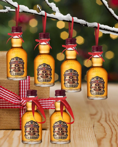 Image: PRE-ORDER Merry Baubles - Chivas Regal 12 Year Old Whisky Miniature Set