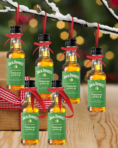Image: PRE-ORDER Merry Baubles - Jack Daniels Whiskey Apple Miniature Set