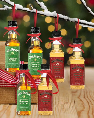 Image: PRE-ORDER Merry Baubles - Jack Daniels Whiskey Fire & Apple Miniature Set