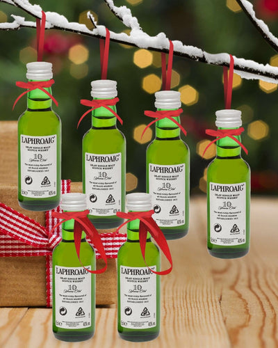 Image: PRE-ORDER Merry Baubles - Laphroaig 10 Year Old Whisky Miniature Set