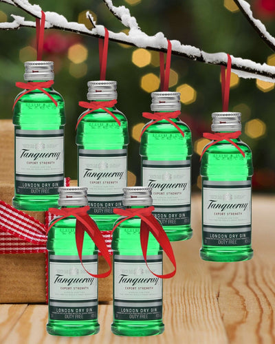 Image: PRE-ORDER Merry Baubles - Tanqueray Gin Miniature Set