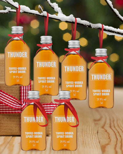 Image: PRE-ORDER Merry Baubles - Thunder Toffee Vodka Miniature Set