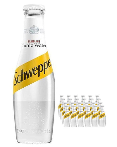 Image: Schweppes Slimline Tonic Water Bottle Multipack, 24 x 125 ml