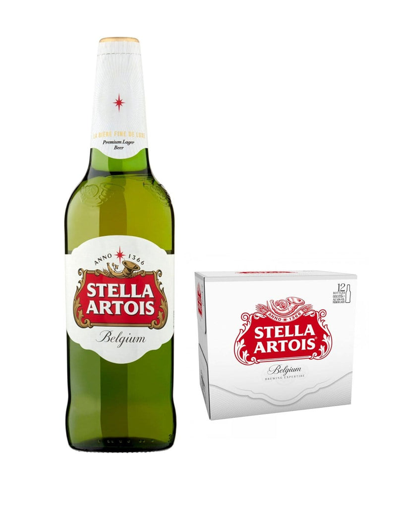 Stella Artois Premium Lager Bottle Multipack, 12 x 660 ml