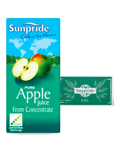 Image: Sunpride Apple Juice Multipack, 12 x 1 L