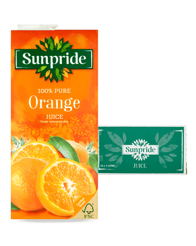 Image: Sunpride Orange Juice Multipack, 12 x 1 L