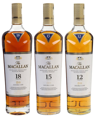 Image: The Macallan Double Cask Malt Whisky Tasting Trio (12, 15, 18 Year Old), 3 x 70 cl