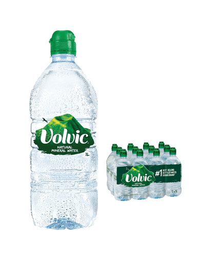 Image: Volvic Still Mineral Water Sports Cap Bottle Multipack, 12 x 1 L