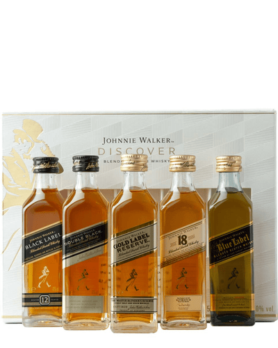 Shop Johnnie Walker Discover Whisky Miniature Gift Set, 5 x 5 cl at The Bottle Club