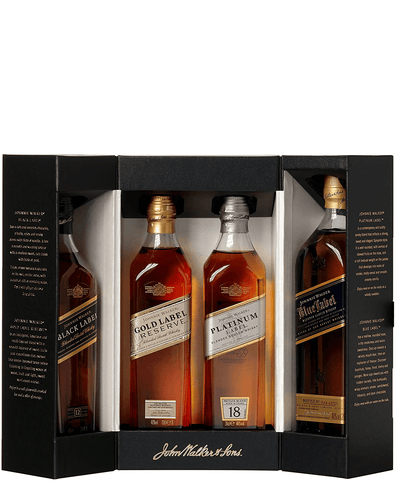 Shop Johnnie Walker Whisky Collection Gift Pack , 4 x 20 cl at The Bottle Club