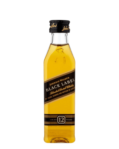 Image: Johnnie Walker Black Label Whisky Miniature, 5 cl