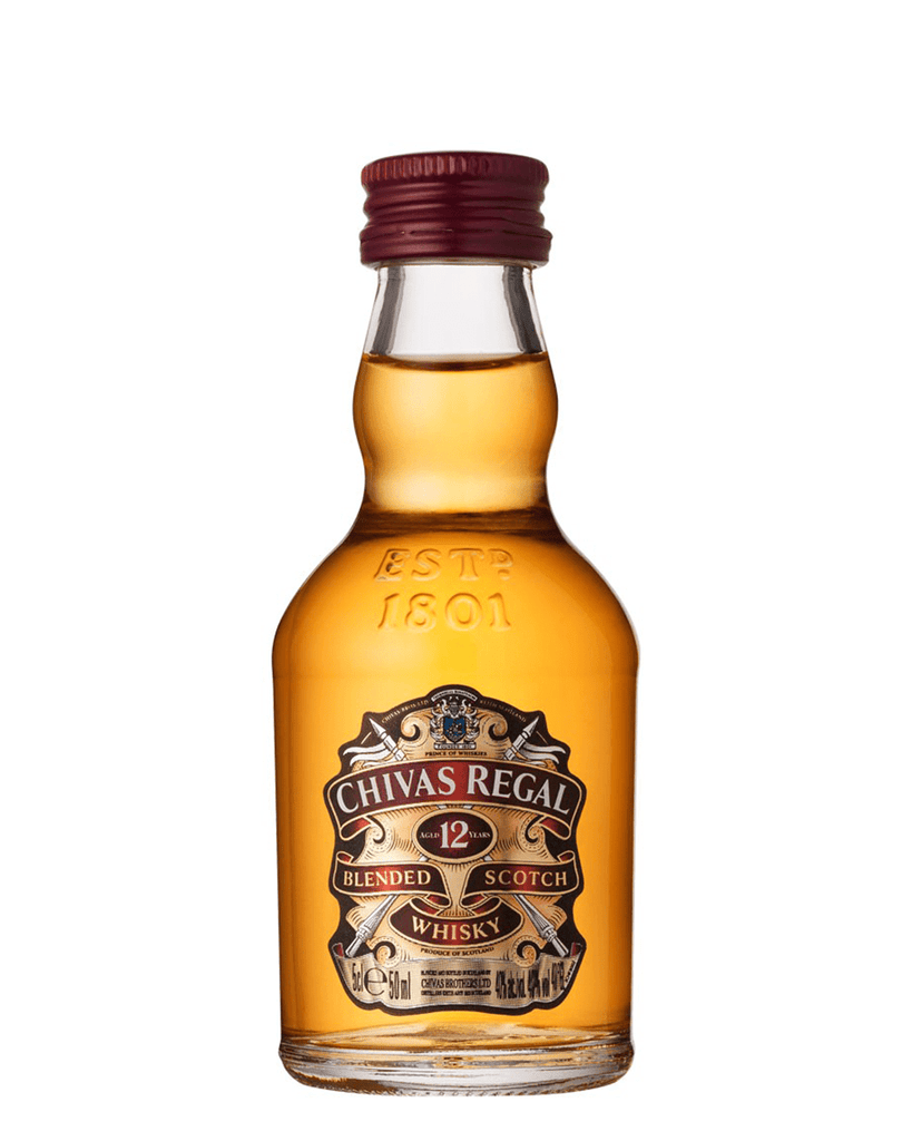 Chivas Regal 12 Year Old Blended Scotch Whisky miniatures, 5cl