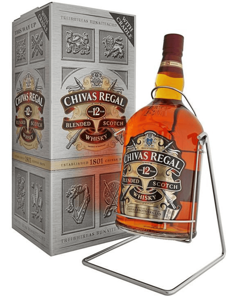 Chivas Regal 12 Year Old Blended Scotch Whisky With Cradle, 4.5 L