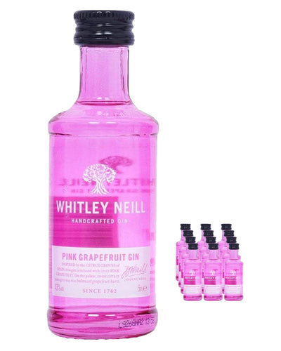 Image: Whitley Neill Pink Grapefruit Gin Miniataure Pack, 12 x 5 cl