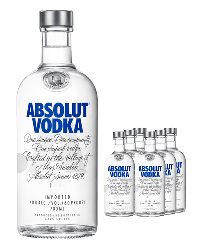 Image: Absolut Vodka (Case of 6 x 70 cl Bottles)
