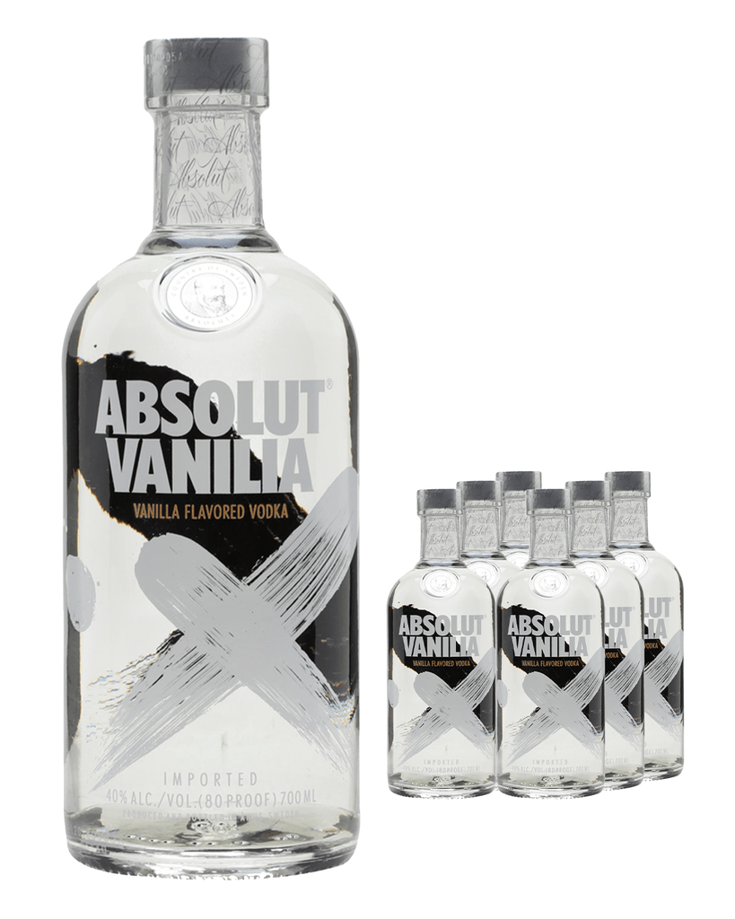 Absolut Vanilia Vodka (Case of 6 x 70 cl Bottles)