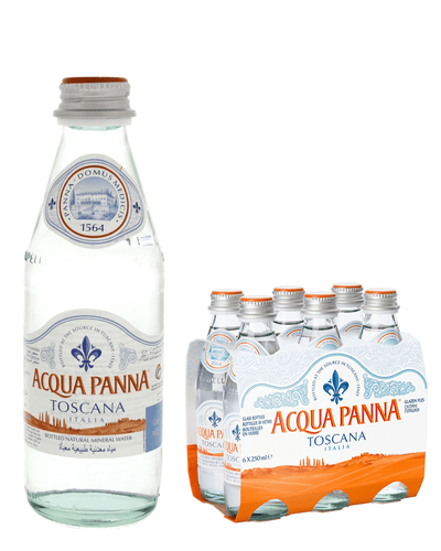 Image: Acqua Panna Mineral Water, 6 x 250ml Glass Bottles (Pack of 6, Total 24 Bottles)